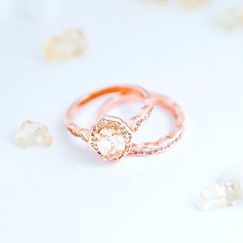 e838d233f Barogirl Diamond Couple Ring Engagement Ring for Women Women's Rings for  Lovers YR926 (7,