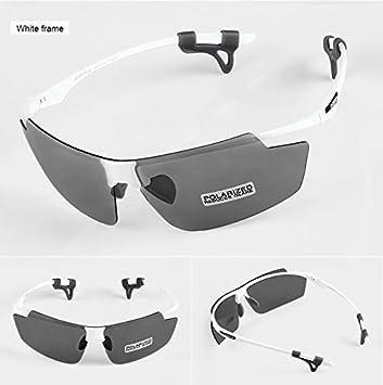INBIKE ultraligero ciclismo gafas polarizadas para bicicleta Deportes al aire libre Eyewear gafas cortavientos para hombres y mujeres MTB Equipo 2 lente, blanco: Amazon.es: Deportes y aire libre