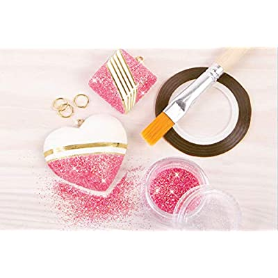 Make It Real - Gold and Glitter Accent Jewelry. DIY Necklace and Pendant Making Kit for Girls. Arts and Crafts Kit Guides Kids to Create Unique Gold and Glitter Pendants for Necklaces: Toys & Games