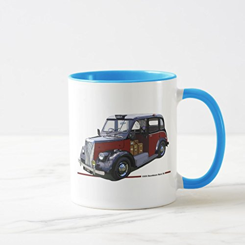 Zazzle Beardmore Mkii Taxi Mug, Light Blue Combo Mug 11 oz