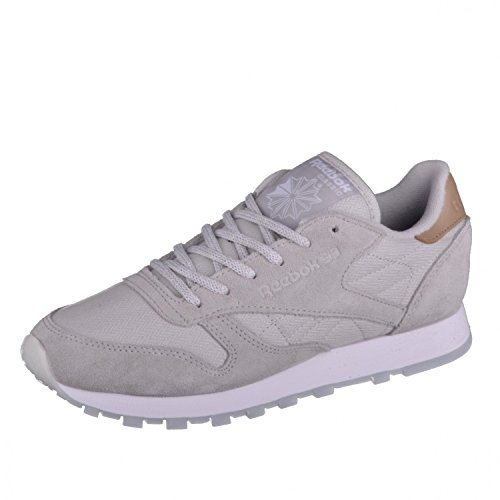 Reebok Classic Leather Damen Sneaker Grau Grau