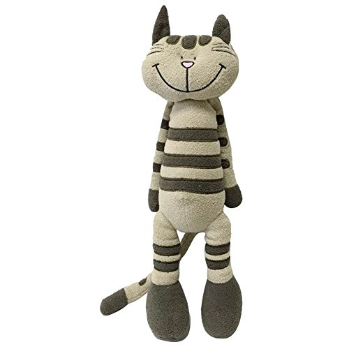Snuggle Stuffs Plush Sitting Taupe Striped Calico Cat, 18