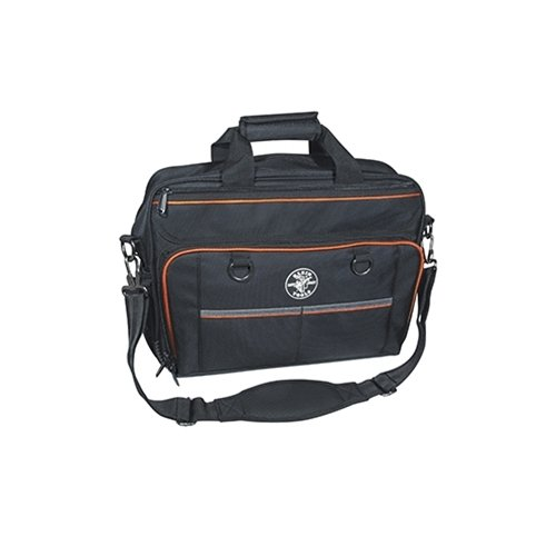 Tool Bag, Tradesman Pro Tech Bag with Laptop Pocket, Black and Orange Klein Tools 55455M