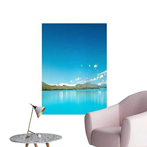 SeptSonne Wall Decals Laguna Beach Scenery Blue Green Water Environmental Protection Vinyl,20