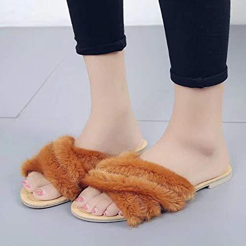 De De Flip Zapatillas Cruz Flop Algod Mujeres Las Zapatillas Oto De KUKI Piel Moda E De Plano De Zapatillas Invierno o Fondo De La qxHA1aO