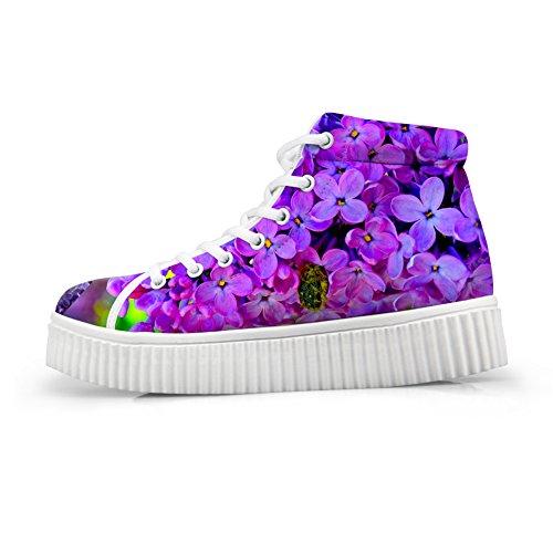 Bigcardesigns Dames 3d Bloemen Design Herfststijl Dagelijkse Schoenen Casual Platte Sneakers Style4
