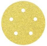 5'' x NH Hook & Loop 5 Hole C-Wt 120 Grit Aluminum Oxide Paper Disc, Pack of 10