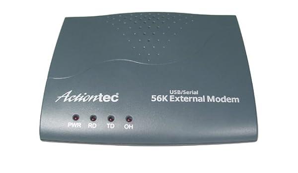 ACTIONTEC 56K EXTERNAL MODEM DRIVER UPDATE