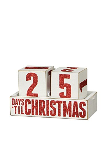 Primitives by Kathy Box Sign Days Til Christmas Countdown Blocks Wooden Calendar ()
