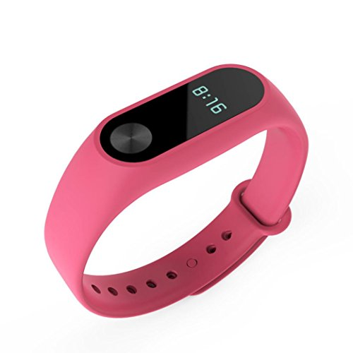 Price comparison product image DDLBiz Fashion Replacement Wristband Band Strap + Metal Buckle For Xiaomi Mi Band 2 Bracelet (Pink)