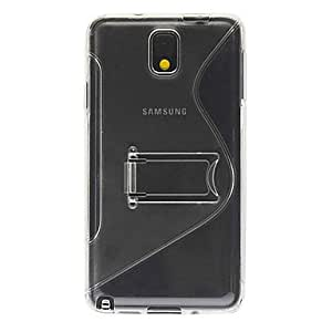 ZL TPU Transparent S Shaped Back Case Cover with Stand for Samsung Galaxy Note3