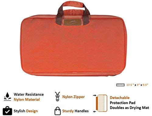 BOMKI Complete Grilling & Cooking Set for The Outdoors (Orange)