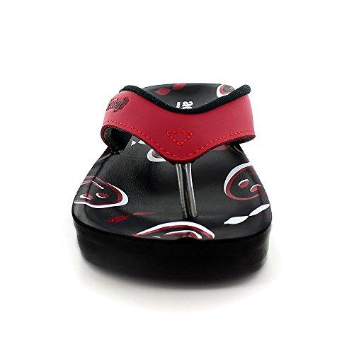 Aerosoft Sonrisa Womens Emoji Face Sandals Orthotic Flip Flops Red 0u0dNjrQc