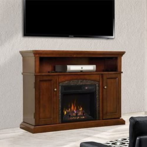 ChimneyFree Lynwood Electric Fireplace Entertainment Center In Vintage  Cherry   18MM4105 C233