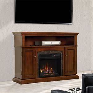 Amazon.com: ChimneyFree Lynwood Electric Fireplace Entertainment Center in Vintage Cherry - 18MM4105-C233: Home & Kitchen
