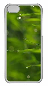 Customized iphone 5C PC Transparent Case - Wet Grass Bokeh Summer Personalized Cover by lolosakes