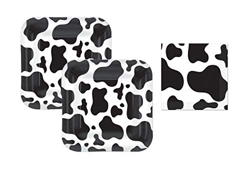 Cow Print Plates And Napkins (Cow or Farm Square 7