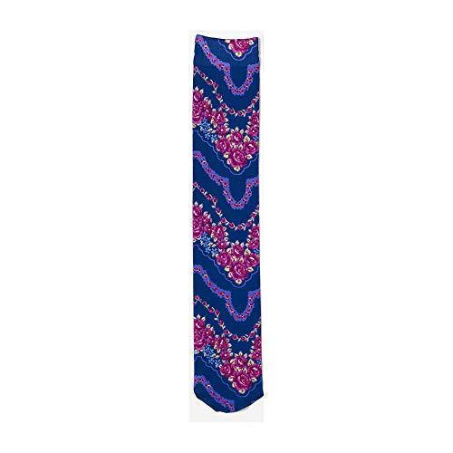 Zocks Boot Socks by Ovation, Pink Floral Zig Zag