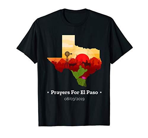 Prayers For El Paso Texas remember victims Mall sad T Shirt ()