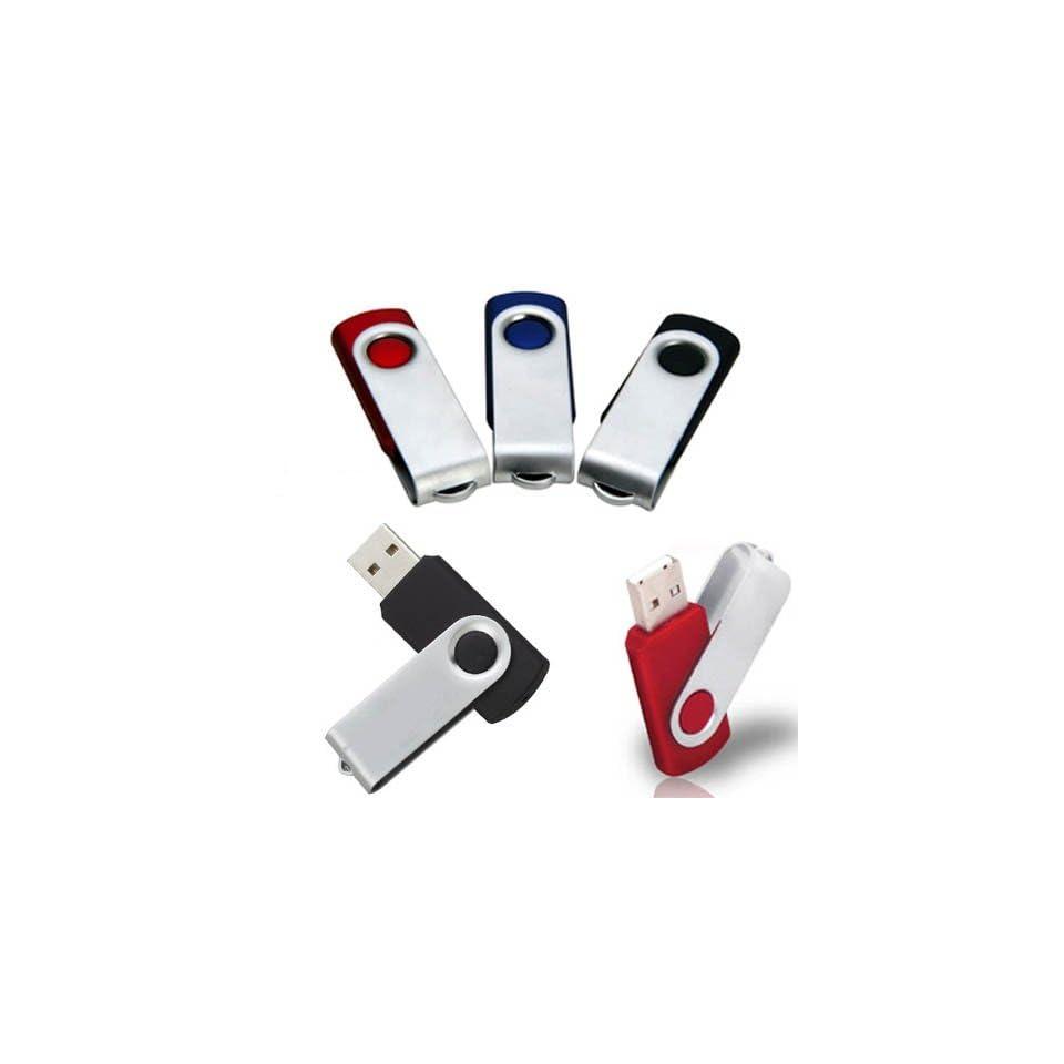 Premium Metal/Black Swivel USB Flash Memory Drive 32GB