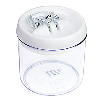Acrylic Airtight Round Storage Canister Set, Clear Food Saver Plastic  Container W/ Flip
