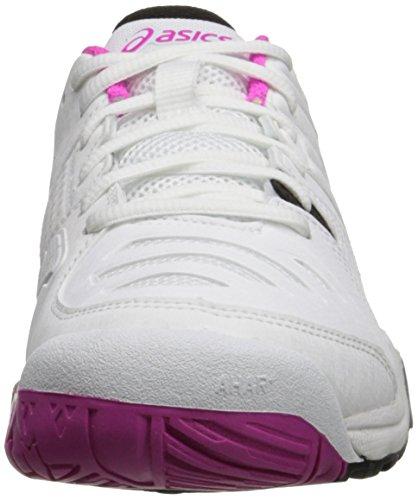Asics Womens Gel Challenger 10 Scarpe Da Tennis Bianche / Rosa Bagliore / Nero