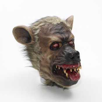 Hyena Latex Mask Brown/Black]()