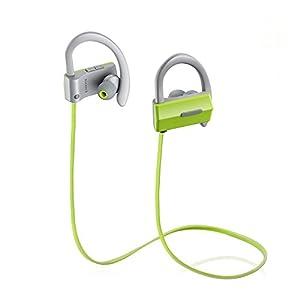 Bluetooth Wireless Headphones,SAUNORCH K19 V4.1 Sport Wireless Bluetooth Earbuds Sweatproof Earphones In-Ear HD Stereo Headsets w/Mic CVC 6.0 Noise Cancelling for Gym Running Jogging Green