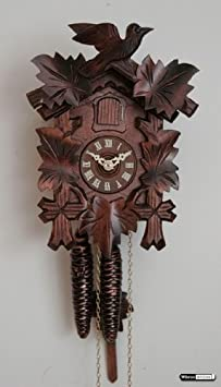 German Cuckoo Clock 8-day-movement Carved-Style 18.00 inch – Authentic black forest cuckoo clock by Hekas