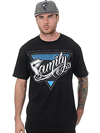 Famous Stars and Straps Mens Family Affair Short-Sleeve T-Shirt/Tee, Black, Medium
