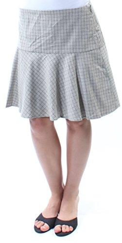 (Ralph Lauren Womens New 5104 Gray Above The Knee Fit + Flare Casual Skirt 2 B+B)