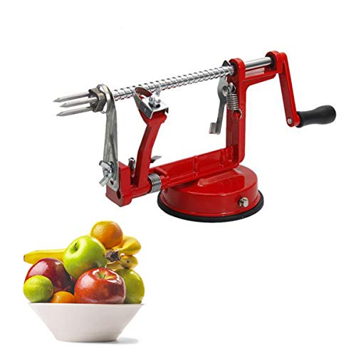 3-in-1 Apple/Potato Peeler Corer Stainless Steel Hand-cranking Apple Peeler Slicer