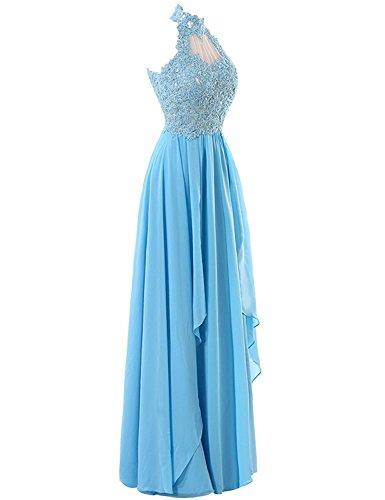 Mit Elegant Hoher Carnivalprom Lang Applikation Partykleider Maxikleider Abendkleider Ausschnitt Damen Ballkleider Gelb E4wX4H