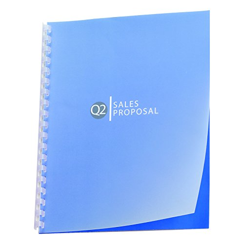 GBC Designer Premium Plus View Presentation Binding Covers, Square Corners, Frost, 25 Pieces Per Box (GBC2514499)