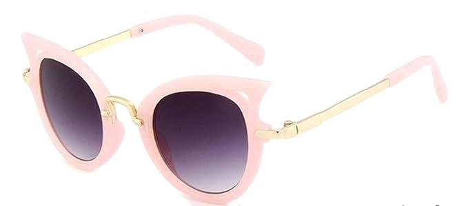 EVRYLON Gafas de sol para niña de 10 12 14 años redondas con ...