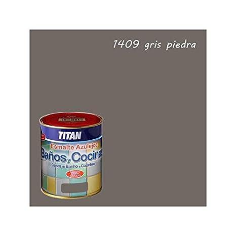 Piastrelle pittura per bagni e cucine Titan - 750 mL, Pietra Grigio ...