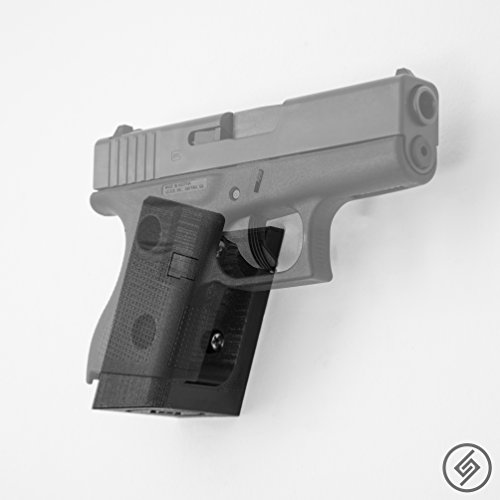 Glock 42 Mount Right | Pistol Wall Display Storage Organization System | Unique Low Profile Design | Gun Safe Wall Garage | Gun Room Mounting Solution | Spartan Mounts