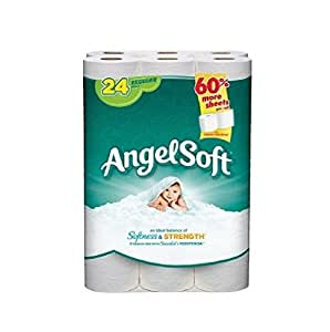 angel soft toilet paper 24 regular rolls soft toilet paper 2 ply 10059