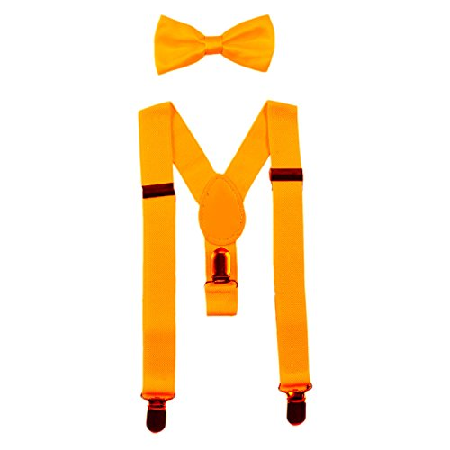 baby suspenders and bow tie set elastic adjustablefits