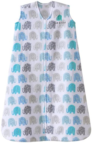 Halo Sleepsack, Micro-fleece, Elephant Texture, Gray, Small by Halo