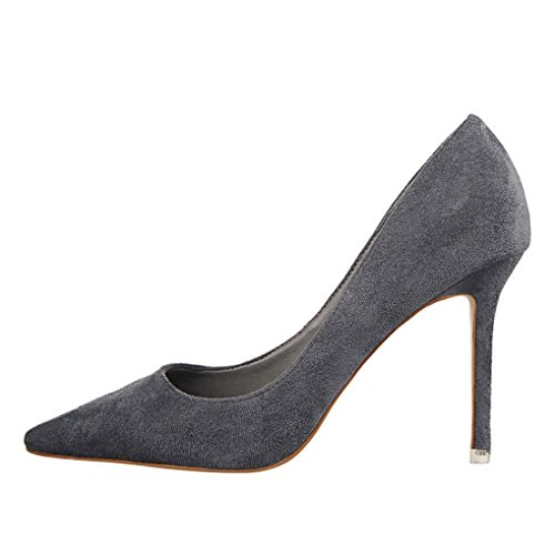 Chaussures Bout Daim Femme Gris Élégant Talon Escarpins Ol Elégant Effet Soirée Haut Oaleen Pointu Aiguille REB8SqSw