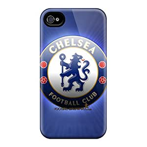 Durable Defender Cases For Iphone 4/4s Tpu Covers(chelsea Fc)
