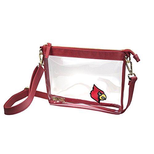 Capri Designs Clear Small Crossbody NFL Stadium Approved - University of Louisville Cardinals (Cardinal Capri)