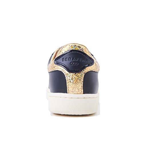 con primvaera JCONNORSJCO02 Banda Estate Sneakers Glitter Collezione 2018 Pelle Laccio Donna Red Gold Nero Nuova Serafini Black in Colore AaYHFq