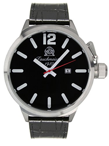 Super bigsize 58mm case diameter U-boot diver watch - date function T0291-B by Tauchmeister 1937