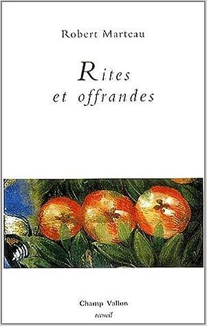 Livre Rites et offrandes pdf epub