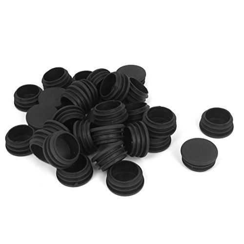 UXcell Plastic Round Tubing Hole End Cap Cover Pipe Tube ...