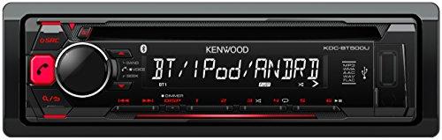 Kenwood KDC-BT500U Autoradio USB/CD-Receiver mit Bluetooth und A2DP, Apple iPod-Steuerung schwarz