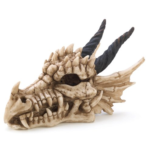 What safer place is there for your secret stash than in the mouth of a snarling dragon. Cool and creepy skull treasure box is a sure deterrent for any would-be treasure raiders.