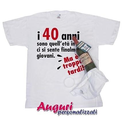 Bombo T Shirt In Bottiglia Compleanno 40 Anni
